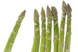 fresh green asparagus isolated