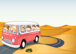bus in a desert