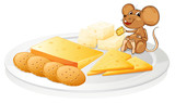 biscuits, cheese and mouse