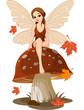 Fototapeten,fairy,herbst,pilz,märchen