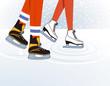 zwei Schlittschuhläufer