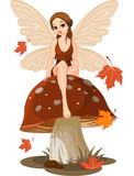 Fototapeta grzyb - baśń - Kobieta