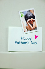 Happy father's day message sticky note