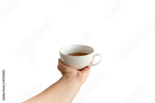 Teetasse in der Hand