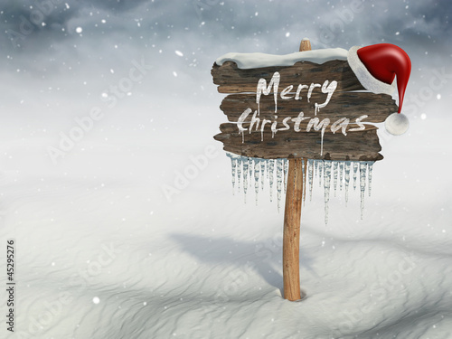 """Merry Christmas"" wood sign"