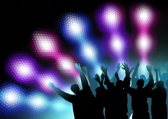 Colored Nightlife - Dance Party Background
