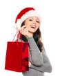 Frau mit Weihnachtstüte