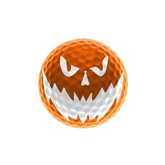 Orange halloween golf ball