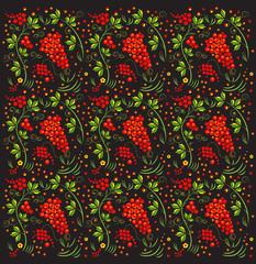 Russian Khokhloma pattern.