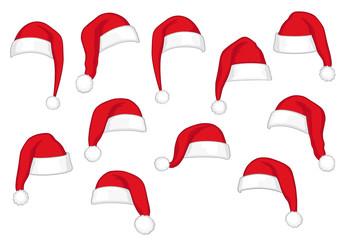 Weihnachtsmützen, verschiedene
