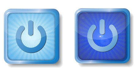 blue radial power off icon