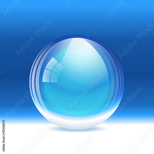 Vector empty transparent snow globe. Layered.