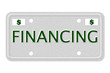 Financing Car  License Plate