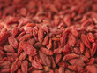 Close up of dried goji berries with copy space