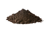Fototapety Pile of soil isolated on white background