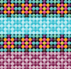 Beadwork imitation seamless background