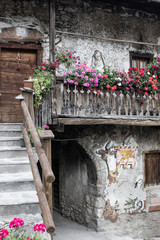 Cibiana, the village of murals, Alps, Italy