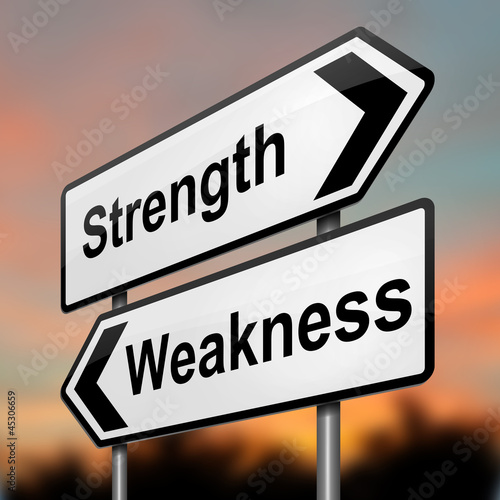 Strengths or weakness concept.