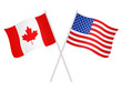 United States of America and Canadian flags