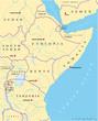 East Africa map (Ostafrika Landkarte)