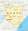 Kenya map (Kenia Landkarte)