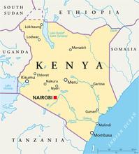 Kenia kaart (Kenia Landkarte)