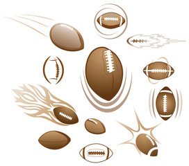 Footballs, illustration