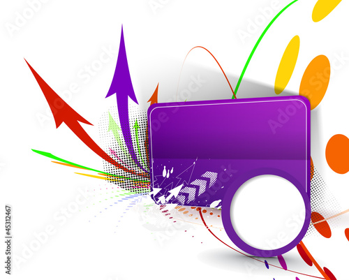 Abstract funky graphic design vector background