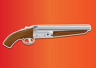 Lupara or Sawn-off Shotgun, illustration