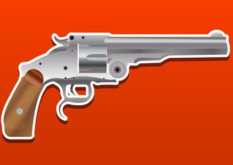 Gun, Handgun, Pistol or Revolver, illustration