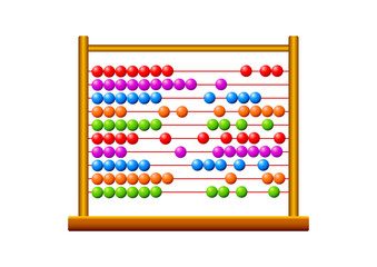 Abacus on white background