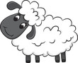 Cartoon sheep. Vector illustration