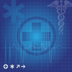 Medical symbols, illustration