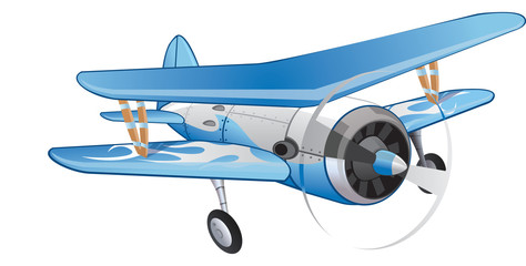 Biplane, illustration