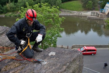 rescuer on the rope, exercise special police units,
