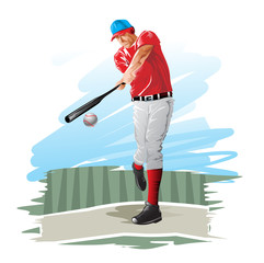 Baseball player, illustration