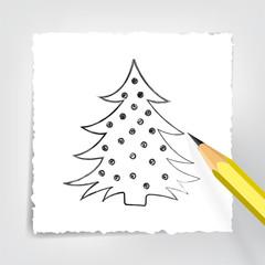 Tannenbaum Zeichnung