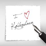 I love Kobenhavn poster