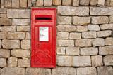 traditional georgian postbox poster