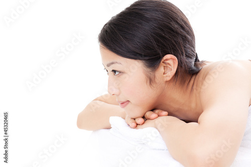 poster of attractive asian woman on esthetic image