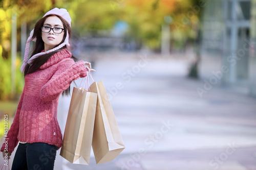 Shopping girl outdoor