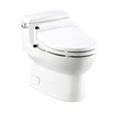 Automatic touch toilet bowl isolated