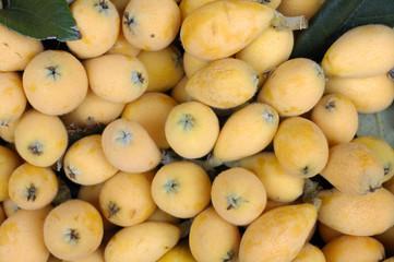 Fresh loquats texture