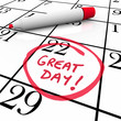 Great Day Calendar Date Circled Red Marker