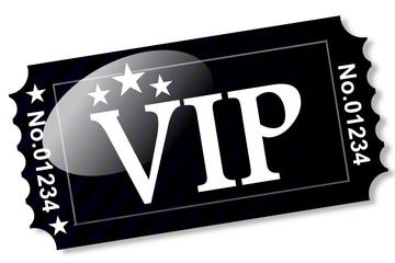 Ticket - VIP auf Schwarz