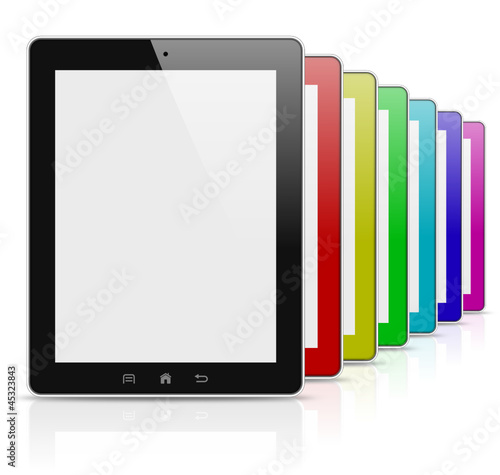 Tablet pc colorful rainbow series