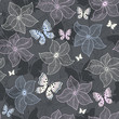 Repeating gray floral pattern