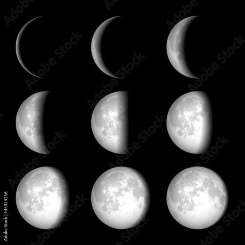 fototapeta na ścianę Fazami księżyca