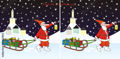 Santa Claus-10 differences