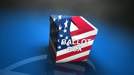 Concept animation ballot box.